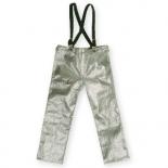 Pantaloni din fibra aramidica aluminizata, cu bretele