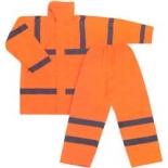 Costum impermeabil reflectorizant (scurta + pantalon)