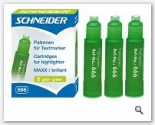 Rezerva 666 textmarker verde Schneider 3/set
